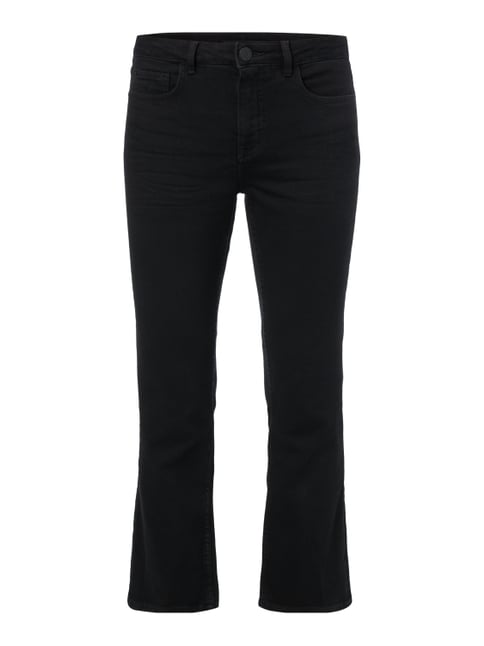Coloured Flared Cut 5-Pocket-Jeans Grau / Schwarz - 1