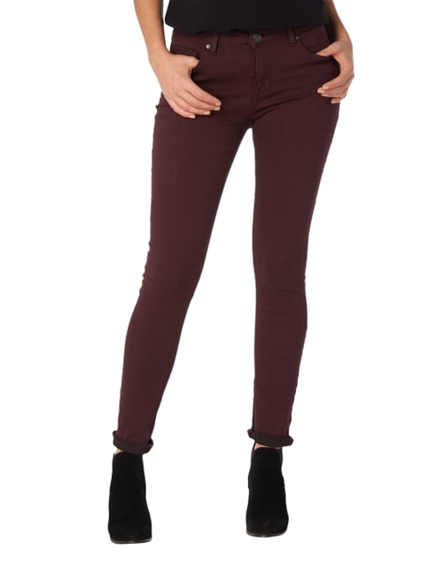 Opus Coloured Skinny Fit 5-Pocket-Jeans Bordeaux Rot - 1