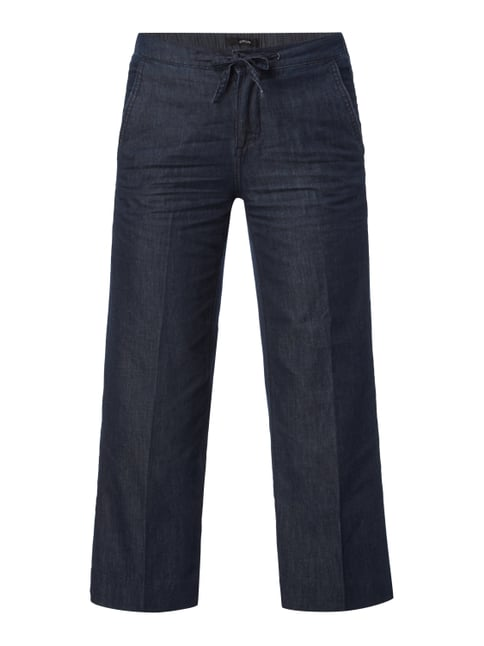 Rinsed Washed Comfort Fit Jeansculotte Blau / Türkis - 1