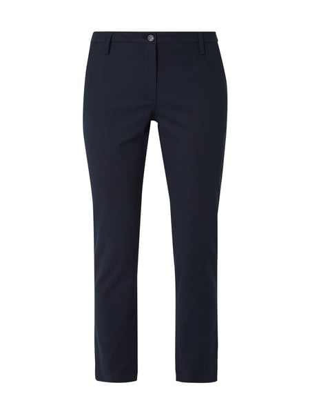Opus Slim Fit Chino mit Stretch-Anteil Dunkelblau
