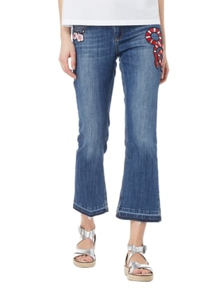 Oui Flared Fit 5-Pocket-Jeans mit Aufnähern Jeans - 1