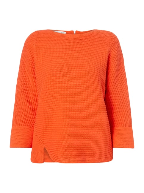 Pullover mit Cut Out am Saum Rot - 1