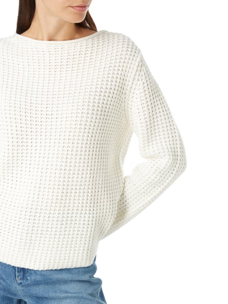 oui Pullover SCHWARZ OFFWHITE Pullover