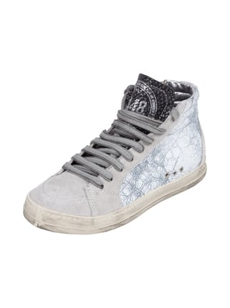 High Top Sneaker im Used Look Weiß - 1