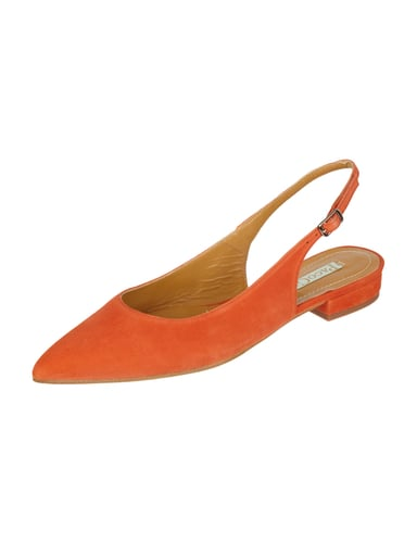Sling Ballerinas aus Veloursleder Orange - 1