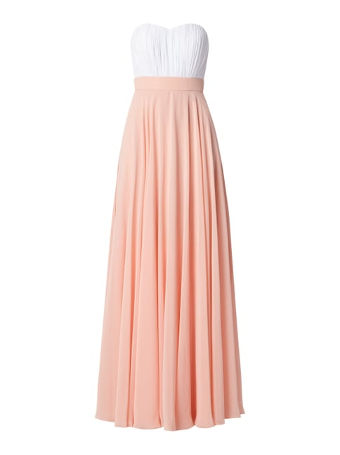 Abendkleid in Two-Tone-Machart Rosé - 1