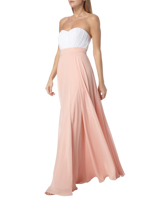 Paradi Abendkleid in Two-Tone-Machart in Rosé - 1