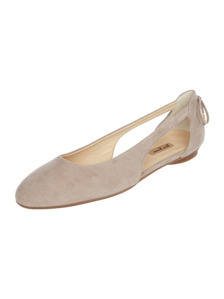 PAUL GREEN Ballerinas aus Veloursleder mit Cut Outs Beige