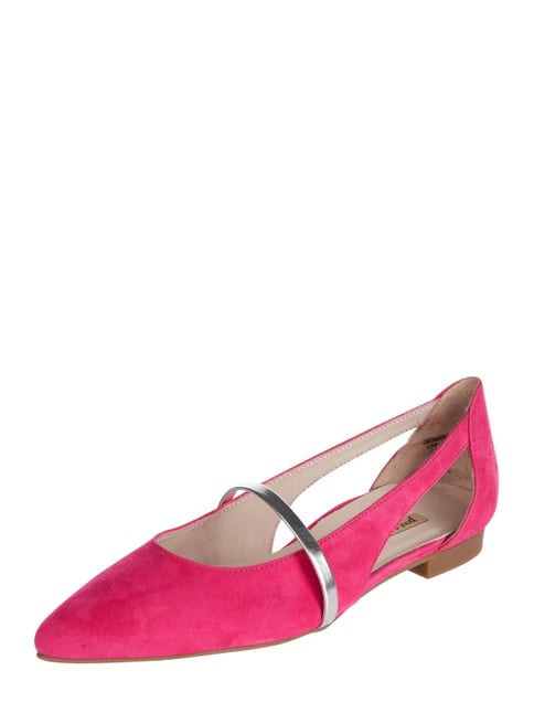 38356e2a7b7d7a PAUL GREEN Ballerinas aus Veloursleder mit Cut Outs Rosé - 1 ...