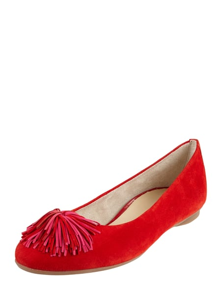 PAUL GREEN Ballerinas aus Veloursleder Rot - 1
