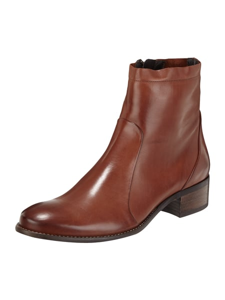 PAUL GREEN Booties aus Leder Cognac
