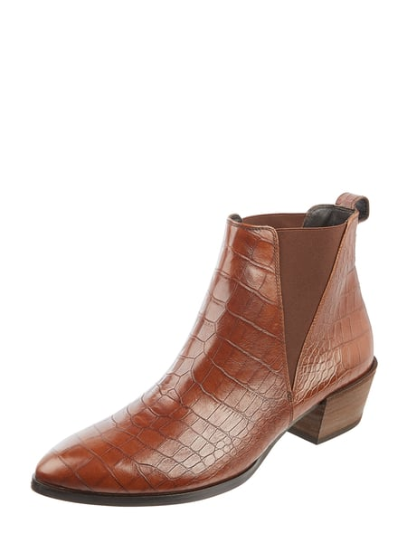 wholesale dealer 1965a 0aee6 PAUL GREEN – Chelsea Boots aus Leder in Kroko-Optik – Mittelbraun