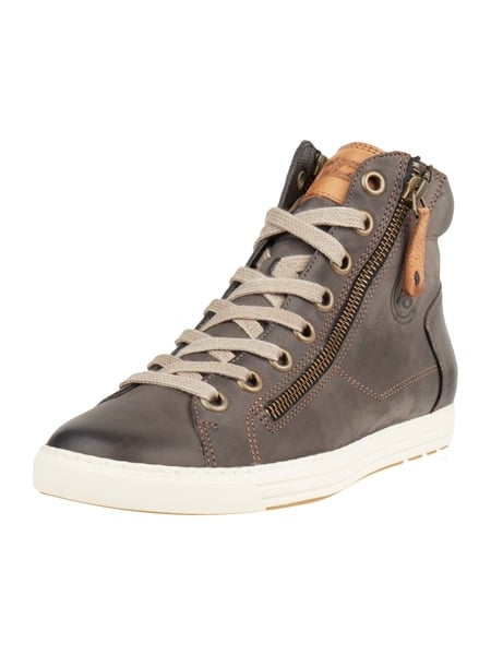 High Top Sneaker aus Nubukleder Braun - 1