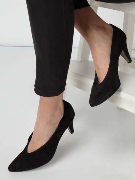 PAUL GREEN Pumps aus Veloursleder Schwarz