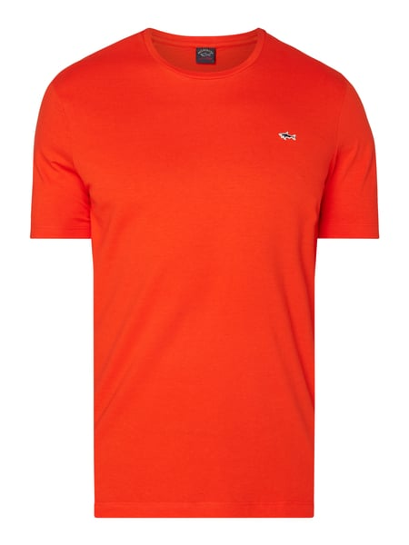 Paul & Shark T-Shirt mit Logo-Aufnäher Orange - 1