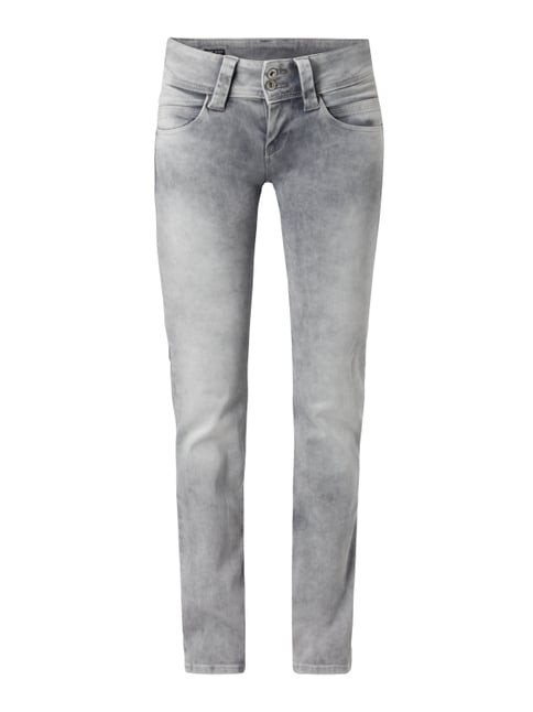 Bleached Regular Fit Jeans Blau / Türkis - 1