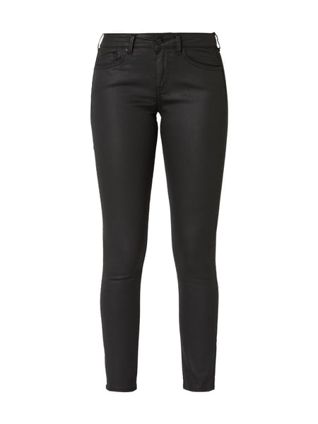 Pepe Jeans – Coated Skinny Fit Jeans – Schwarz
