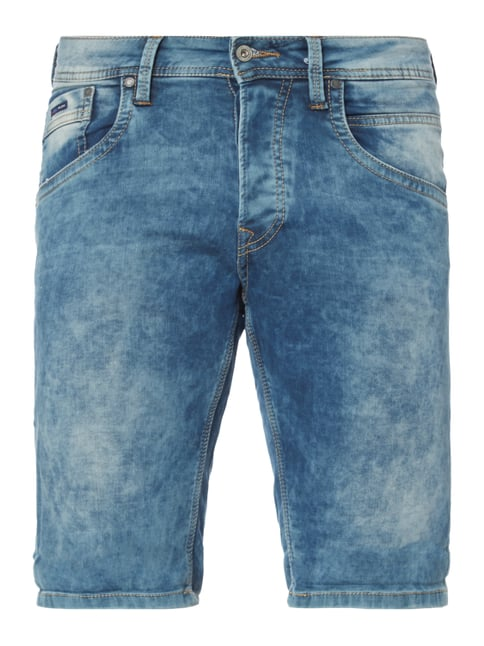 Moon Washed Regular Fit Jeansshorts Blau / Türkis - 1