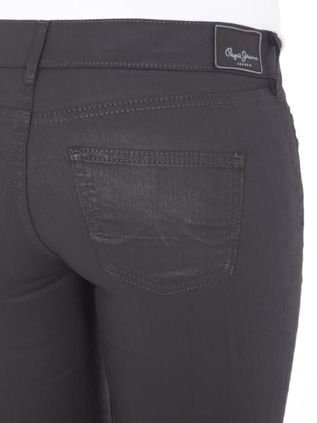 official photos b1976 805f1 PEPE-JEANS PIXIE Coated Skinny Fit Jeans in Grau / Schwarz ...