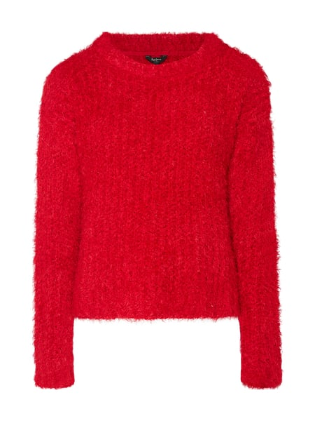 new style 466e3 8d877 Pepe Jeans – Pullover mit Fransen – Rot