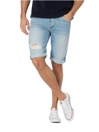 Pepe Jeans Regular Fit Jeansshorts im Destroyed Look Jeans - 1