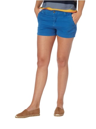 Pepe Jeans Regular Fit Shorts aus Baumwoll-Elasthan-Mix Eisblau - 1