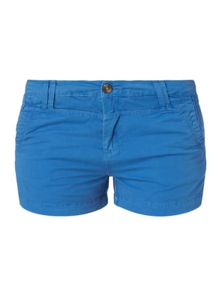 Regular Fit Shorts aus Baumwoll-Elasthan-Mix Blau / Türkis - 1