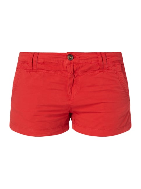 Regular Fit Shorts aus Baumwoll-Elasthan-Mix Rot - 1