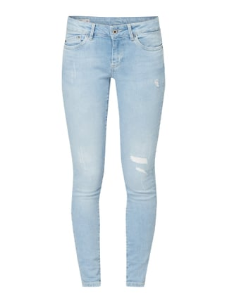 online store e8679 208d9 Pepe JeansPixie – Skinny Fit Jeans im Used Look