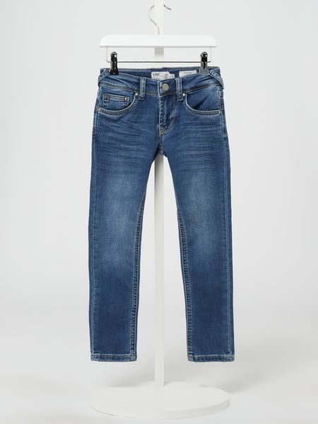 Pepe Jeans Skinny Fit Low Waist Jeans mit Stretch-Anteil Modell 'Finly' Blau - 1