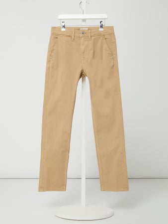 Pepe Jeans Slim Fit Chino mit Stretch-Anteil Modell 'Greenwich' Braun - 1