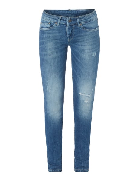 Pepe Jeans Pixie - Stone Washed Skinny Fit 5-Pocket-Jeans Jeans