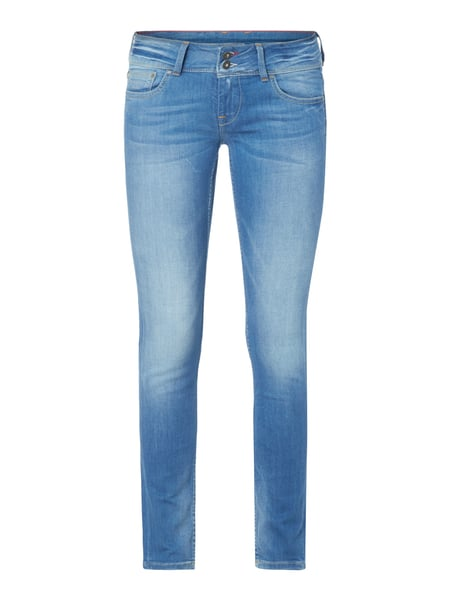 Pepe Jeans Ladis Edition Pa - Stone Washed Slim Fit Jeans Hellgrau