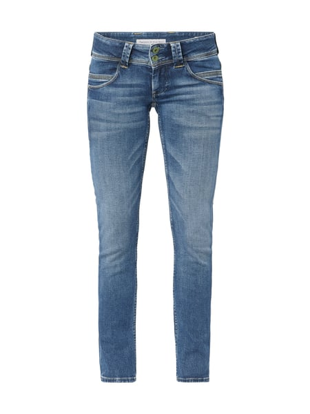 PEPE-JEANS Stone Washed Straight Fit Jeans in Blau   Türkis online ... b3f2f46691