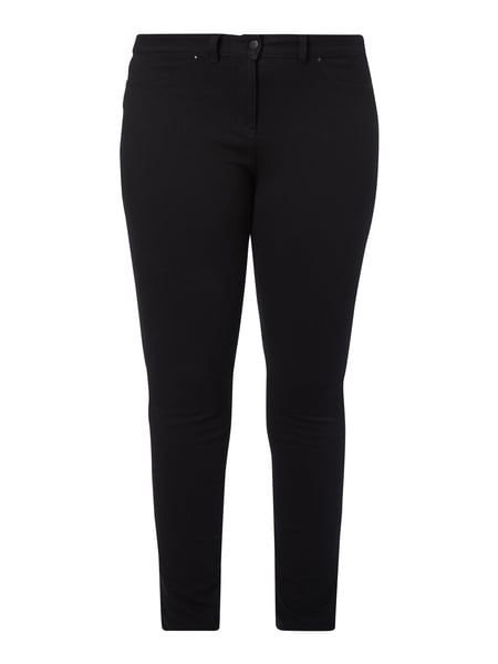 PLUS SIZE - Coloured Slim Fit Jeans Grau / Schwarz - 1