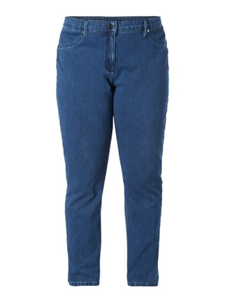 PLUS SIZE - Rinsed Washed Jeans Blau / Türkis - 1