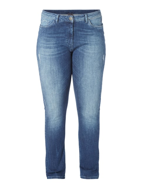 PLUS SIZE - Used Shaping Fit Jeans Blau / Türkis - 1