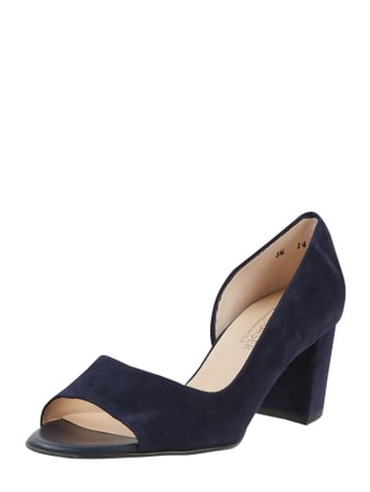 PETER KAISER Pumps aus Leder mit Cut Out Blau - 1