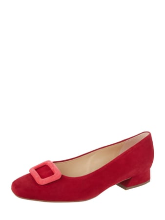 PETER KAISER Pumps aus Veloursleder Rot - 1