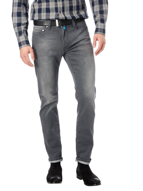 Pierre Cardin Coloured Lyon-Tapered Fit 5-Pocket-Jeans Mittelgrau meliert - 1