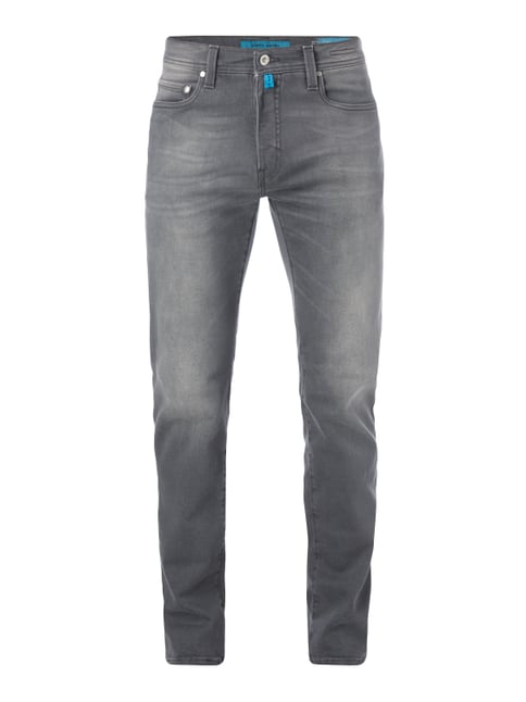 Coloured Lyon-Tapered Fit 5-Pocket-Jeans Grau / Schwarz - 1