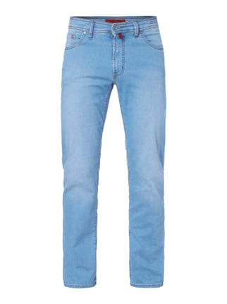 Light Stone Washed Regular Fit Jeans Blau / Türkis - 1