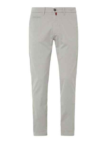 Pierre Cardin Modern Fit Chino mit Webmuster Silber - 1