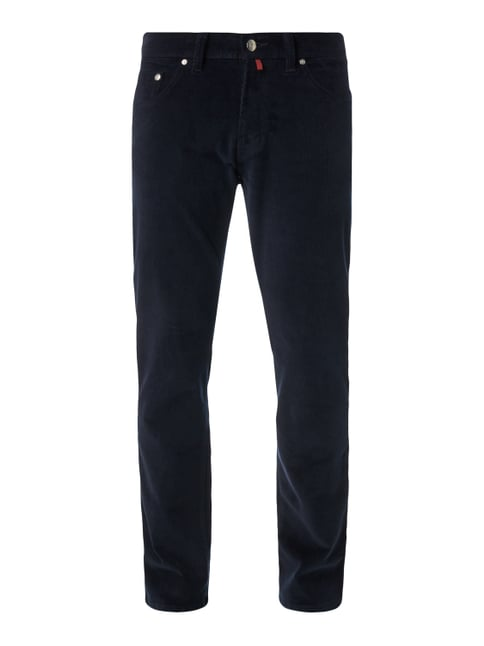 Regular Fit Cordhose im 5-Pocket-Design Blau / Türkis - 1