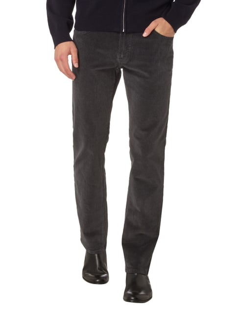 Pierre Cardin Regular Fit Cordhose mit Stretch-Anteil Graphit - 1