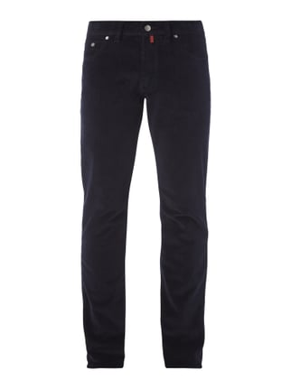 Regular Fit Cordhose mit Stretch-Anteil Blau / Türkis - 1