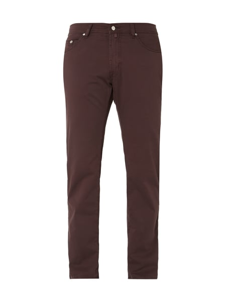 Pierre Cardin Regular Fit Five-Pocket-Hose mit hohem Stretch-Anteil Modell 'Deauville' - 'Performance Plus' Rot - 1