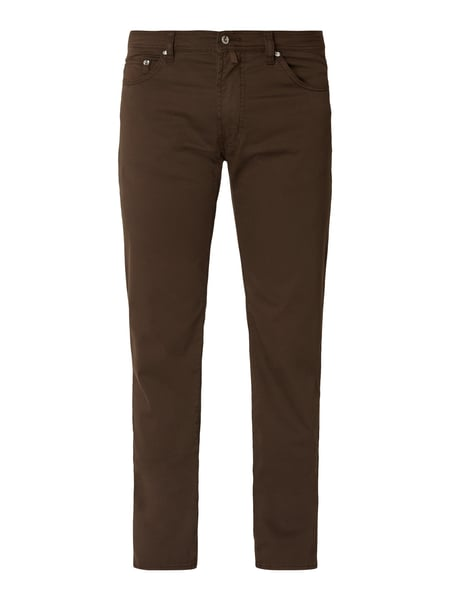 Pierre Cardin Regular Fit Five-Pocket-Hose mit hohem Stretch-Anteil Modell 'Deauville' - 'Performance Plus' Braun - 1
