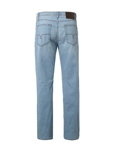 Pierre Cardin Regular Fit Stone Washed Jeans Hellblau - 1