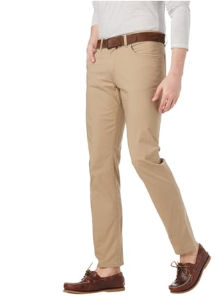 Pierre Cardin Slim Fit 5-Pocket-Hose mit Stretch-Anteil Sand - 1